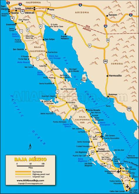 california map mexico baja map the entire peninsula cabo living