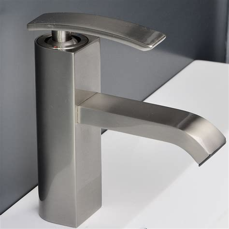 brushed nickel bathtub faucets bathroom faucet brushed nickel ouli m11001 081b conceptbaths com