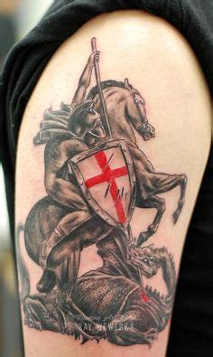 st george cross tattoo designs ideas on sleeve tattoos skull sleeve