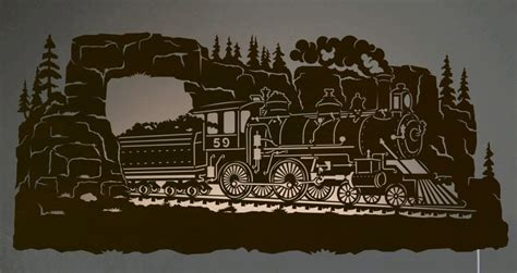 How To Decorate A Ranch Style Home 42 Quot Steam Locomotive Train Scenic Led Back Lit Lighted