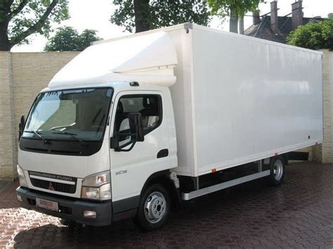 mitsubishi canter box truck from poland for sale at truck1