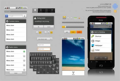 android ui template psd smartphone android user interface psd psd file free