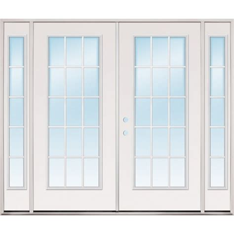 Patio Doors Clearance Discount 8 0 Quot Wide 15 Lite Steel Patio Prehung Door Unit With Sidelites
