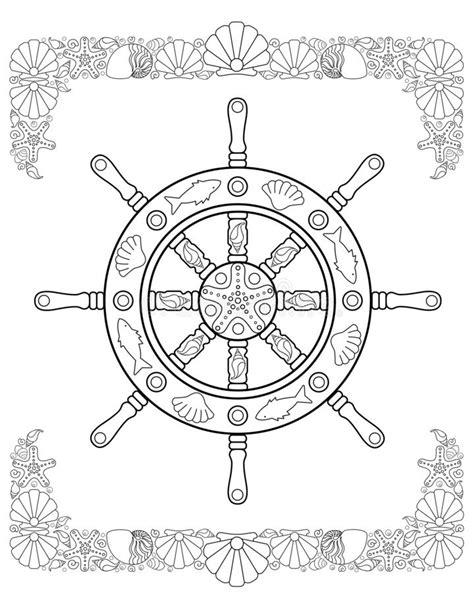 Frame Do Mar - Scrapbook Marinho (02) Ilustração Stock