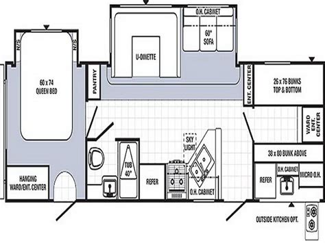 two bedroom rv floor plans 2 bedroom travel trailers floor plans images