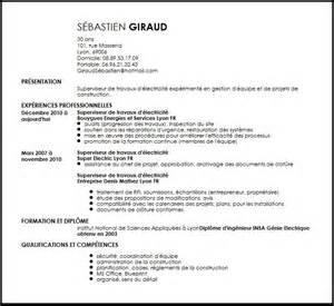 Resume 101 by Cv Superviseur De Travaux D Electricite Exemple Cv