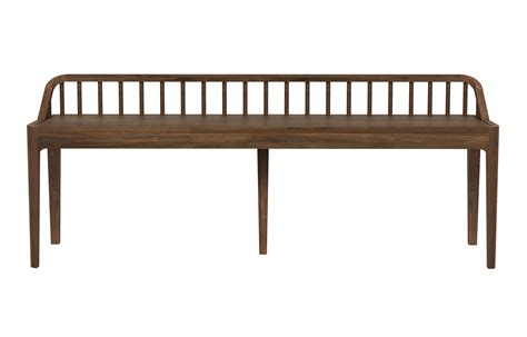 walnut bench spindle walnut bench with backrest viesso