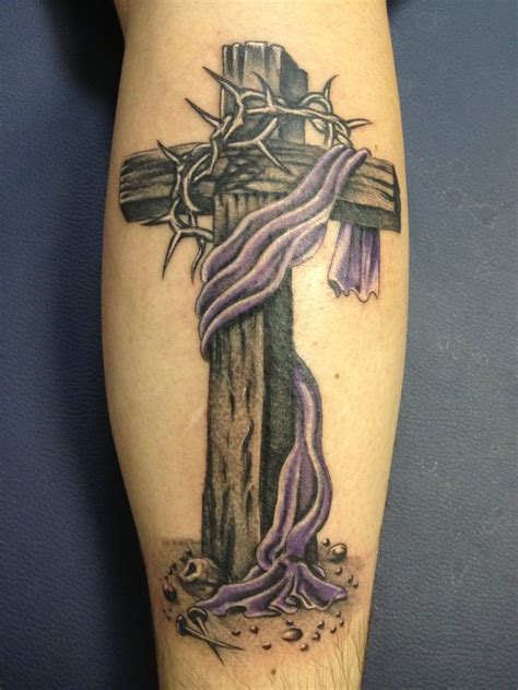 thorn cross tattoo ephesian cross with crown of thorns tattoos