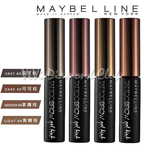 tattoo brow maybelline coles maybelline new york tattoo brow gel tint waterproof