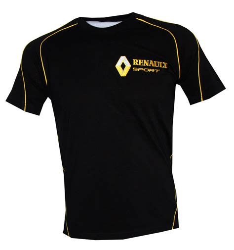 renault sport t shirt embroidered logos clio rally