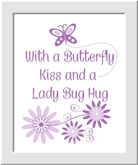 ispirato design purple not just for a girls bedroom purple baby girl nursery wall art purple lavender ladybug