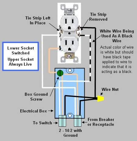 wiring diagram for a duplex receptacle duplex switch