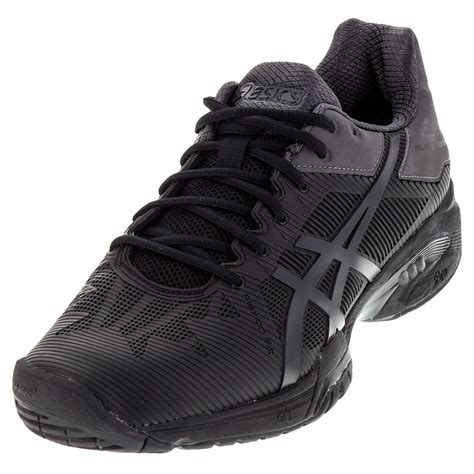s gel solution speed 3 tennis shoes black and gray ebay