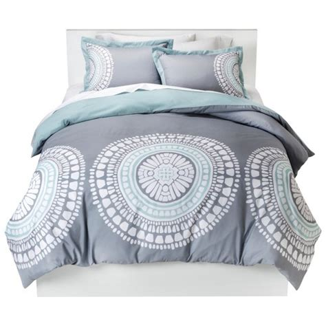 target grey bedding medallion duvet cover set room essentials target