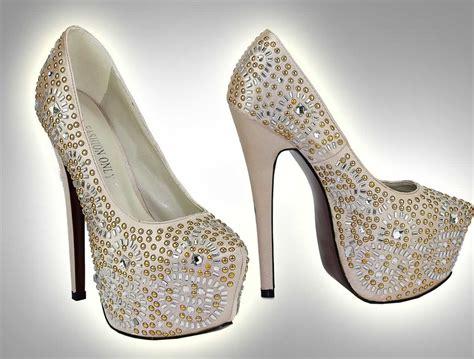 Studded Platform wholesale shoes lss00117 chagne studded platform