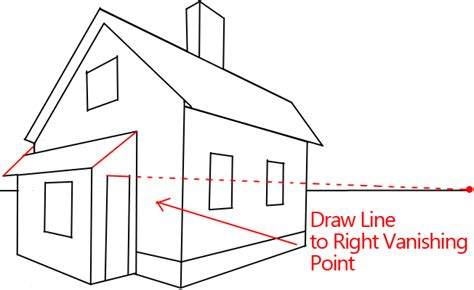 drawing a house how to draw a house with easy 2 point perspective