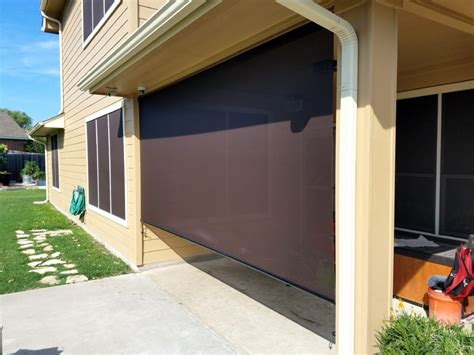 Roll Up Patio Screens - exterior patio roller shades solar screens by josh