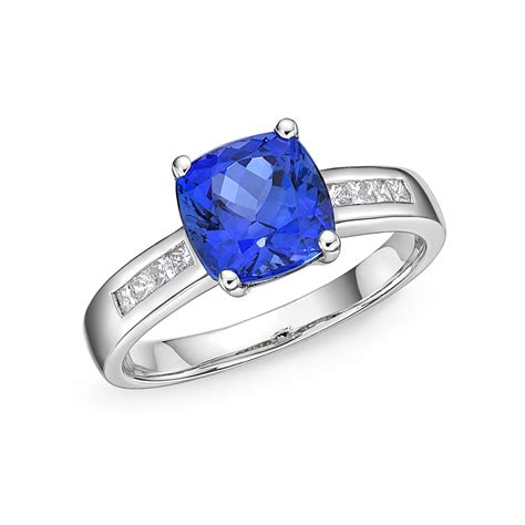 Tanzanite Jewelry by 2 34 Cushion Cut Tanzanite Solitaire Ring
