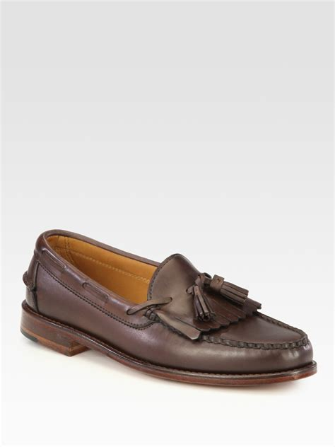 ralph loafers ralph eskdale kiltie tassel loafer in brown for