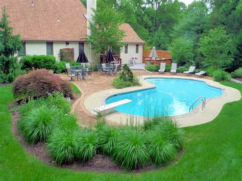 Landscape Design With Pool Gardening Landscaping How To Decorate Swimming Pool