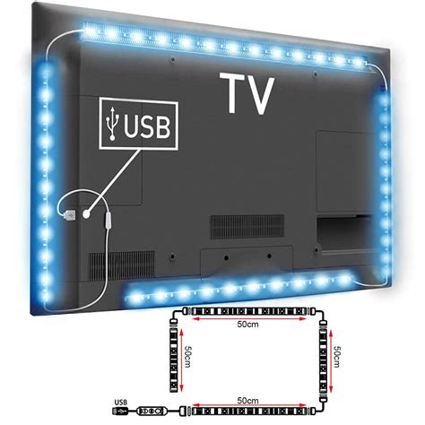 Lu Led Usb Flexibel Lu Sikat 1 4pcs bande ruban lumi 232 re led rgb usb tv lumineuse t 233 l 233 commande 50cm ld992 ebay