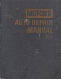 Auto 1968 Motor S Repair Manual Hardcover