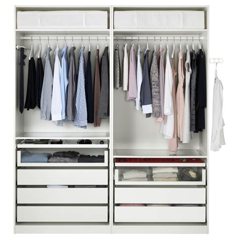 guardaroba pax pax wardrobe white auli mirror glass 200x66x236 cm ikea