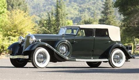 1933 lincoln model kb convertible sedan vintage