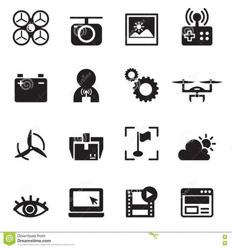 icon design basics basic drone icons vector illustration stock vector