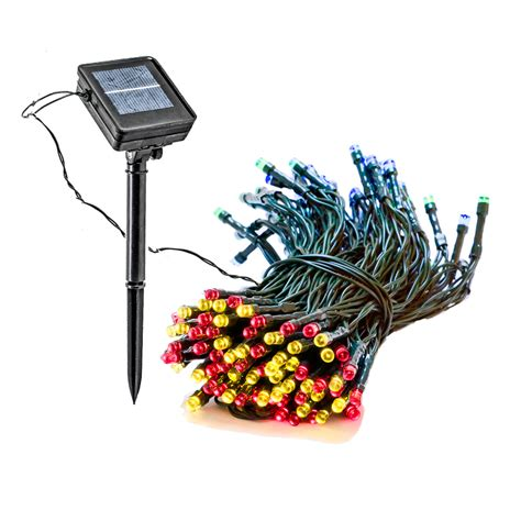 led christmas string lights walmart 4 pack 55 foot solar outdoor christmas holiday string