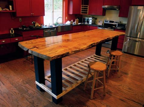 wood kitchen island table handmade custom island table by jeffrey coleson and