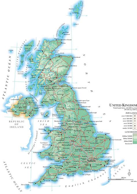 printable road map of united kingdom large detailed physical map of united kingdom with roads