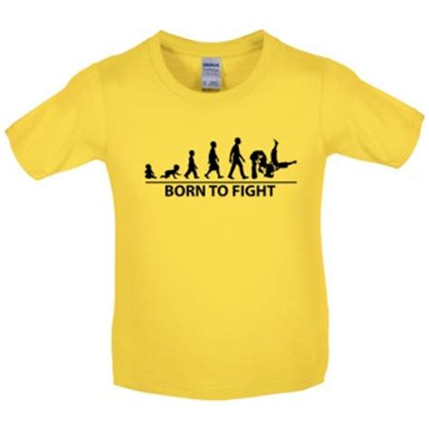 Tshirt Greenlight 1 Years Product born to fight children s judo t shirt shop from a range