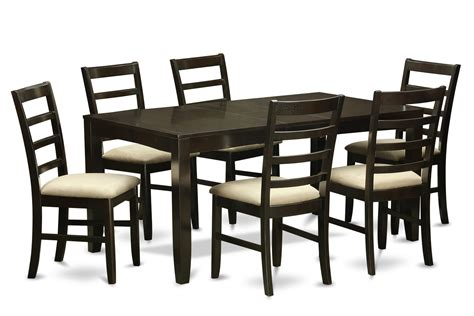 7 dining table 7 dining room set dining table with leaf and 6
