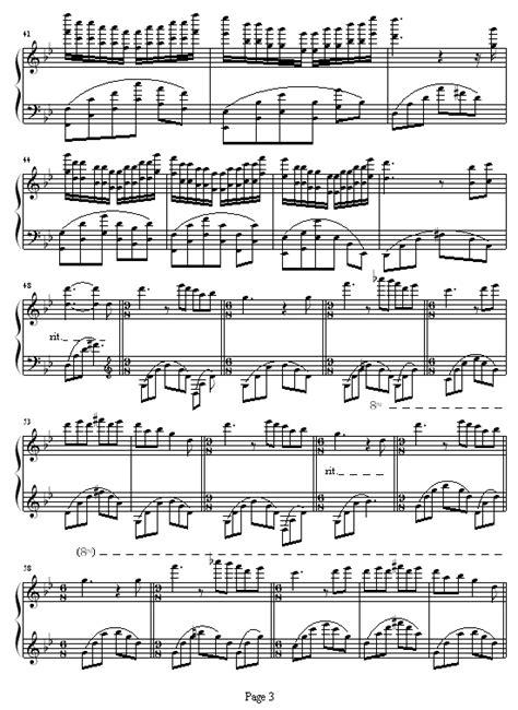 Les Fleurs Sauvages -野花钢琴谱