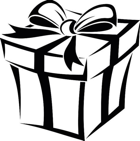 gift clipart gift clip images black and white