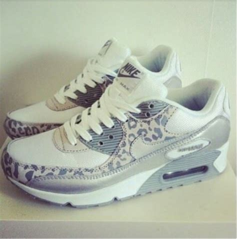 shoes nike air max sneakers leopard print grey white