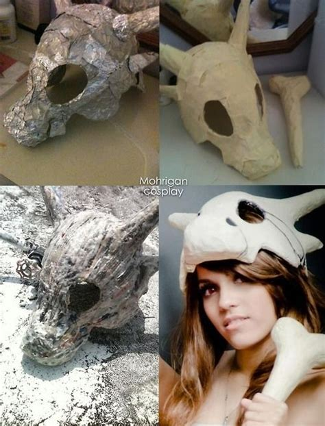 How To Make A Paper Mache Nose - how to make cubone with aluminum foil and paper mache
