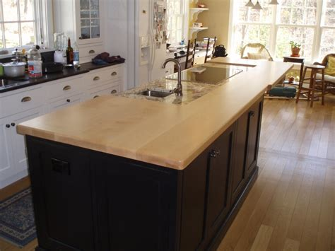 maple kitchen island wood countertops gallery custom