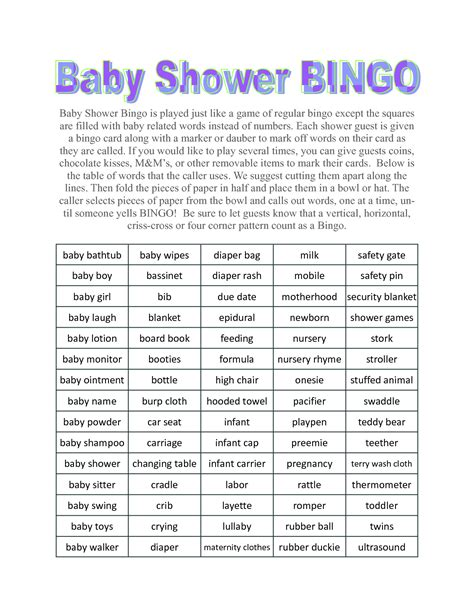 free templates for baby shower games best free home