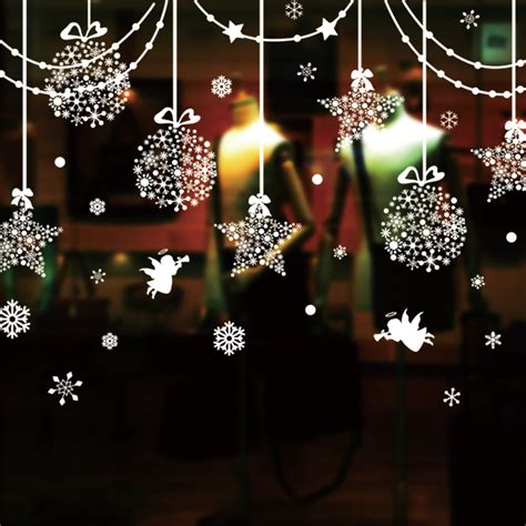 christmas window decorative sticker creative hang adorn