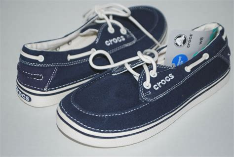 Crocs Hover Canvas Blue Navy Low new nwt crocs hover boat shoes 8 canvas nautical