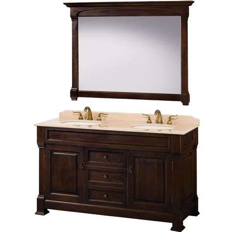 60 Inch Vanity With Top by Wyndham Collection Andover 60 Inch Traditional Sink