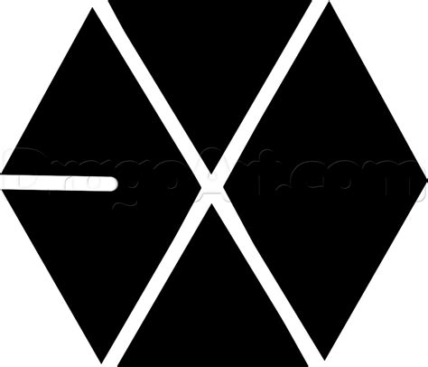 Exo Logo 1 draw the exo logo step by step drawing sheets added by march 30 2015 1 47 02 pm