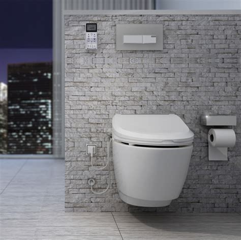 Combined Bidet Toilet by Nic7000 A Combined Electronic Bidet Seat And Wall Hung Toilet