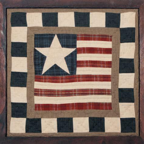 folk art sampler flag framed quilt block olde glory