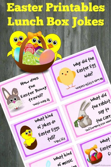 printable easter lunch box jokes free printable easter kids lunch box jokes