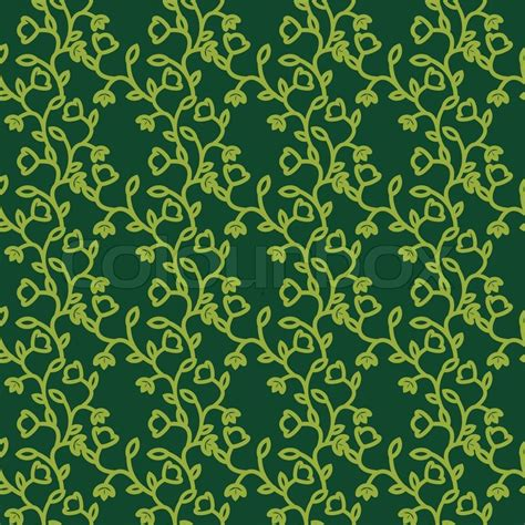 pattern ornamental illustrator seamless ornamental green floral pattern vector colourbox