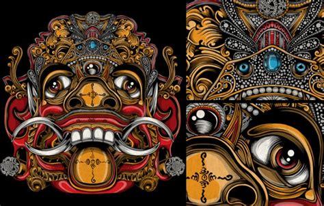 design nine indonesia 中国风手绘面具 手绘
