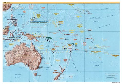 physical map of oceania oceania physical map 2002 size